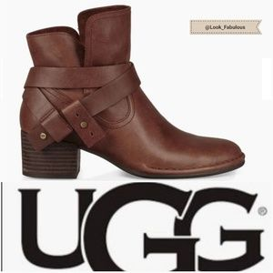 NWT UGG COCONUT BROWN ANKLE BOOTS